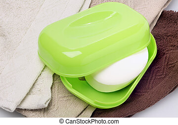 Soap In Plastic Container