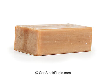 Soap on white background