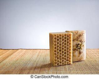 soap., organisch, vervaardigd, hand