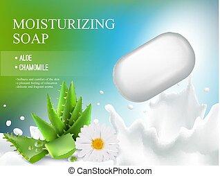 Soap Realistic Composition