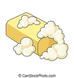soap., sec, style, lavage, symbole, web., illustration, ...