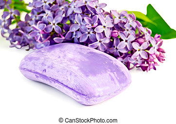 Soap violet with lilac