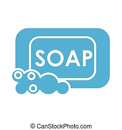soap with foam line style icon