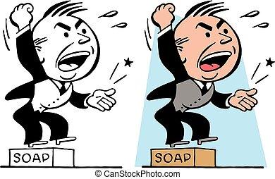 soapbox, człowiek
