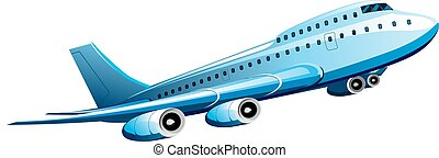 Soaring passenger plane