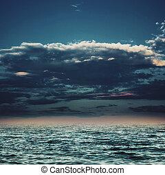 sob, a, céus azuis, abstratos, marinho, fundos, para, seu, desenho