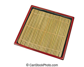 Soba dish-clipping path - Specific wooden Japanese dish used...