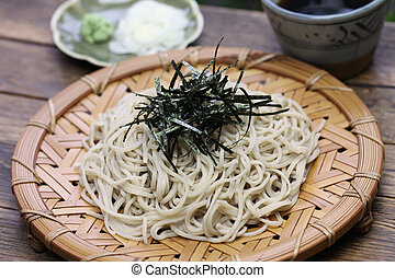 soba noodles, japanese food