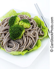 Soba Noodles. - Japanese Vegetarian Soba Noodles with...