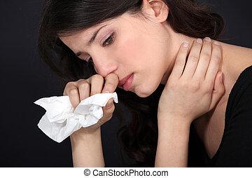 Sobbing woman