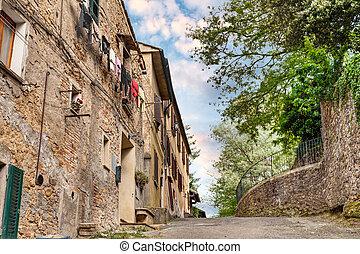 sobborghi, volterra, italia, toscana, pittoresco