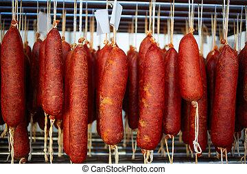 Sobrasada of Mallorca typical sausage in Balearic