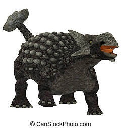 sobre, ankylosaurus, branca