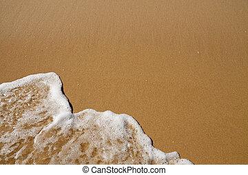 sobre, areia, onda