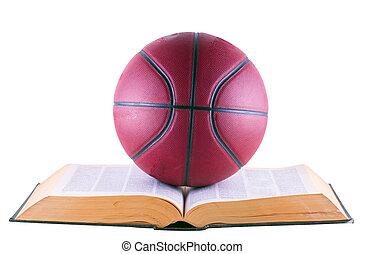 sobre, basquetebol, livro