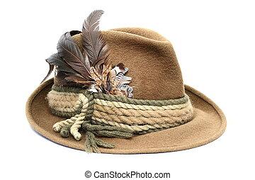 sobre, chapéu, branca, caça