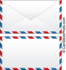 sobre, correo aéreo