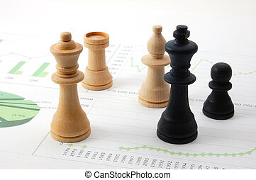 sobre, homem, mapa, negócio, xadrez