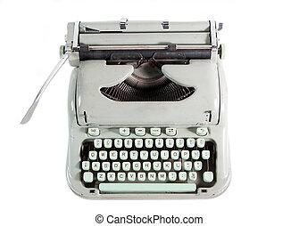 sobre, máquina de escribir