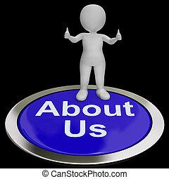 sobre, medios, introducción, botón, nosotros, o, contacto, ...