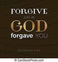 sobre, otro, forgave, uno, impresión, católico, dios, biblia...