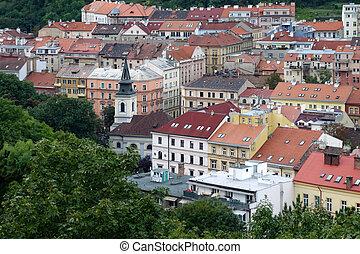 sobre, parte, Praga, vista