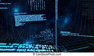 sobre, red, animación, datos, 3d, flo