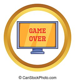 sobre, tela, vetorial, jogo, ícone