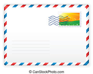 sobre, y, sello, 2