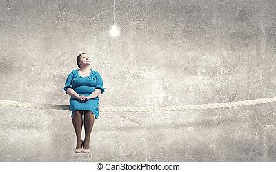 sobrepeso, problem., concepto, imagen