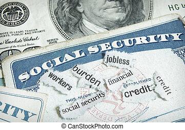 soc sec cards - newspaper headlines and social security...