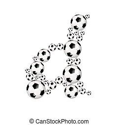 Soccer alphabet lowercase letter d
