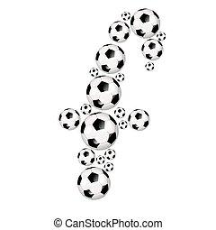 Soccer alphabet lowercase letter f