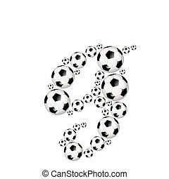 Soccer alphabet lowercase letter g