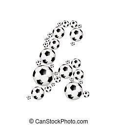 Soccer alphabet lowercase letter h