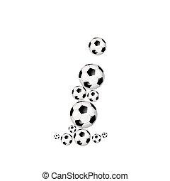 Soccer alphabet lowercase letter i