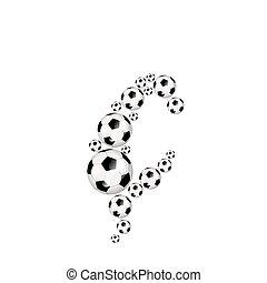 Soccer alphabet lowercase letter