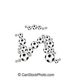 Soccer alphabet lowercase letter ?