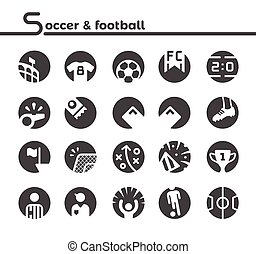 soccer and football icon