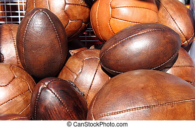 Soccer and rugby balls - Leather soccer and rugby balls sold...