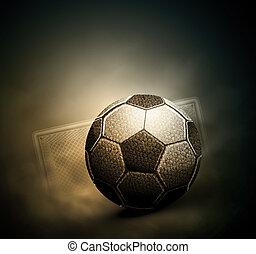 Soccer background - Dark soccer background, eps 10