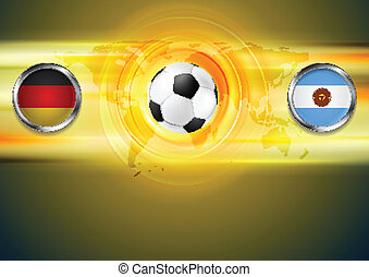 Soccer background. Germany and Argentina football design