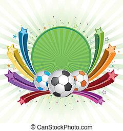 soccer design element, colorful star