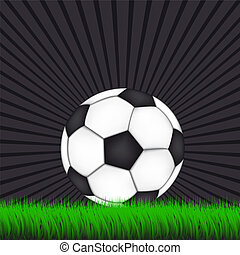 Soccer Background with Ball