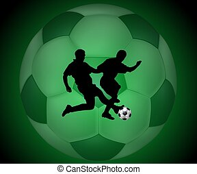 Soccer background x-ray style green
