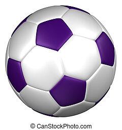 Soccer ball. 3D rendering. - Soccer ball, isolated on white...