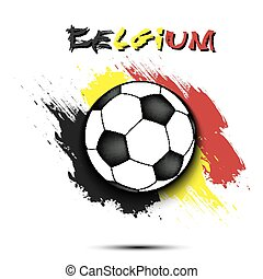 Soccer ball and Belgium flag