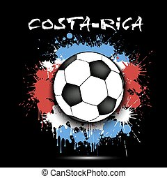 Soccer ball and Costa Rica flag