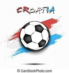 Soccer ball and Croatia flag