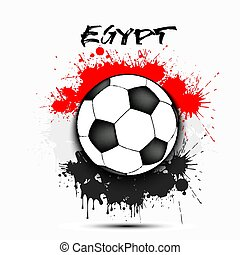 Soccer ball and Egypt flag